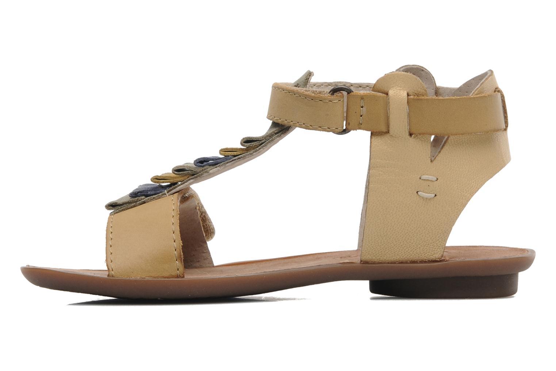 Sandales et nu-pieds Kickers Zebda E Beige vue face