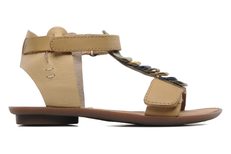 Sandales et nu-pieds Kickers Zebda E Beige vue derrière