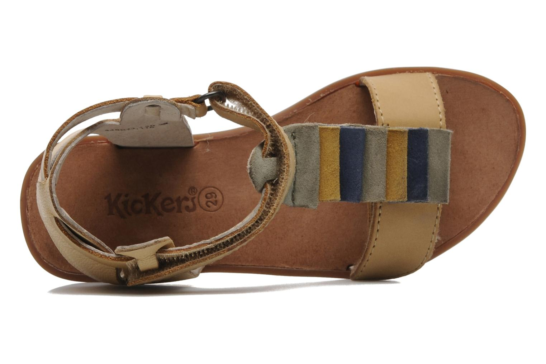 Sandales et nu-pieds Kickers Zebda E Beige vue gauche