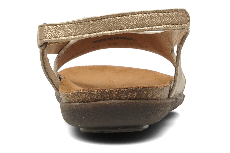 Sandales et nu-pieds Kickers Anatokid Or et bronze vue droite