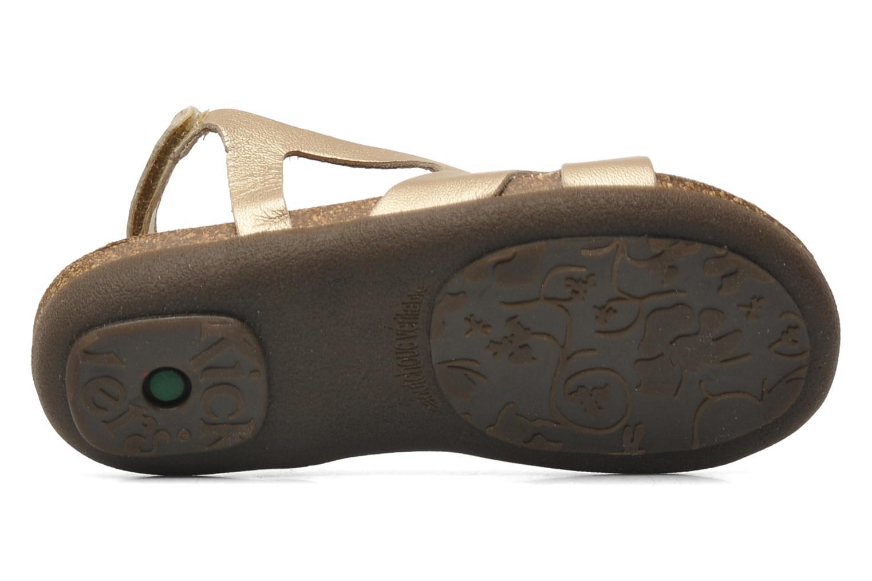 Sandales et nu-pieds Kickers Anatokid Or et bronze vue haut
