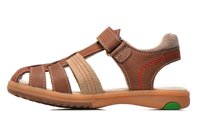 Sandales et nu-pieds Kickers Platinium Marron vue face