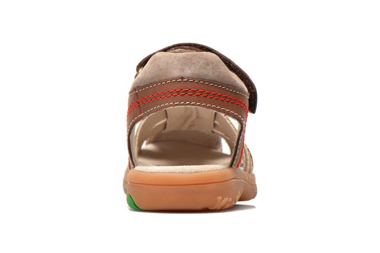 Sandales et nu-pieds Kickers Platinium Marron vue droite