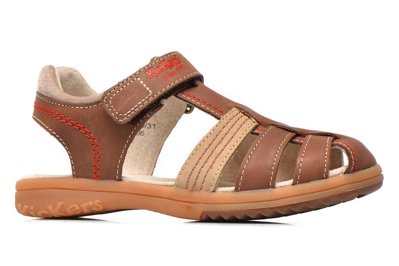 Sandales et nu-pieds Kickers Platinium Marron vue derrière