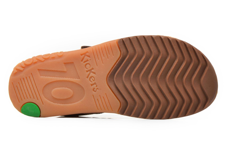 Sandales et nu-pieds Kickers Platinium Marron vue haut
