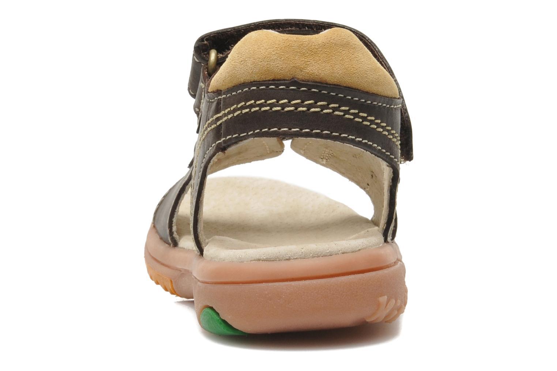 Sandalen Kickers Platino braun ansicht von rechts