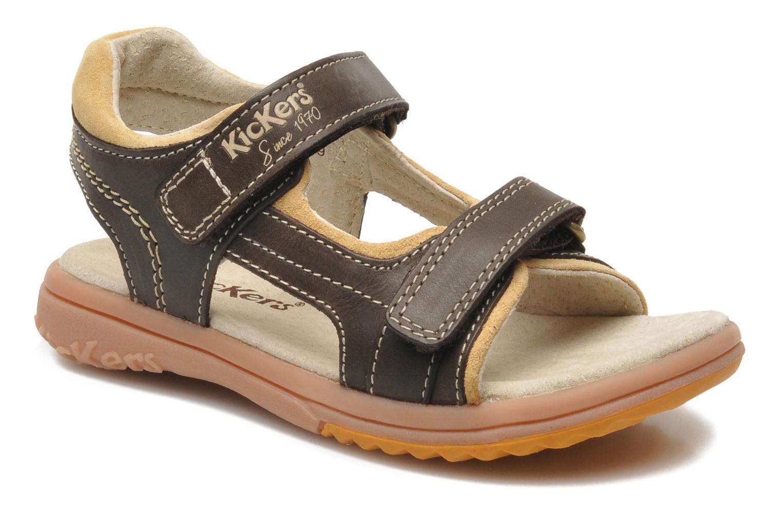Sandalen Kickers Platino braun detaillierte ansicht/modell