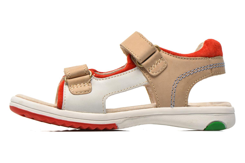 Sandales et nu-pieds Kickers Platino Gris vue face