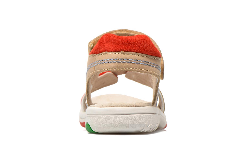 Sandales et nu-pieds Kickers Platino Gris vue droite