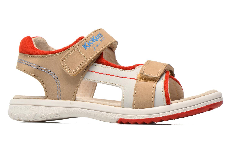 Sandales et nu-pieds Kickers Platino Gris vue derrière