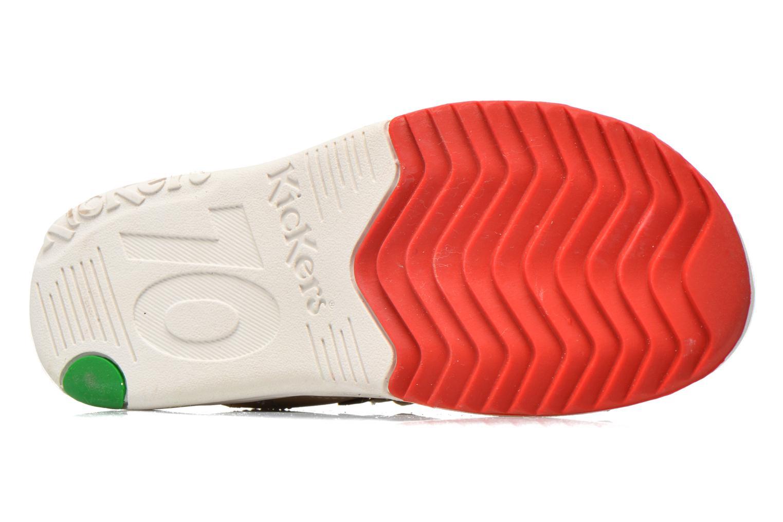 Sandales et nu-pieds Kickers Platino Gris vue haut