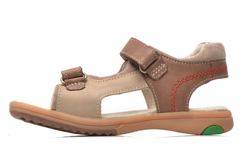 Sandalen Kickers Platino Bruin voorkant