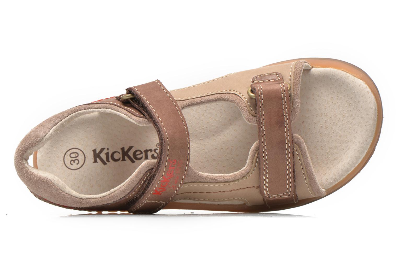 Sandales et nu-pieds Kickers Platino Marron vue gauche
