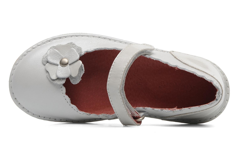 Ballerinas Kickers Express silber ansicht von links