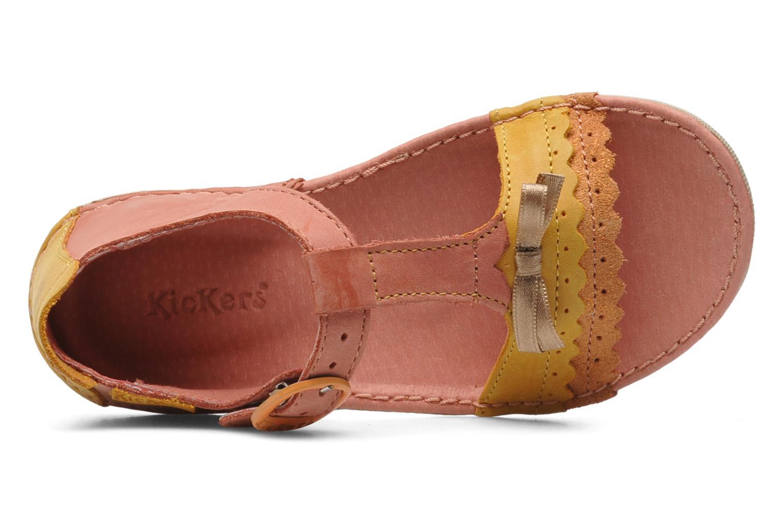 Sandales et nu-pieds Kickers Especial Rose vue gauche