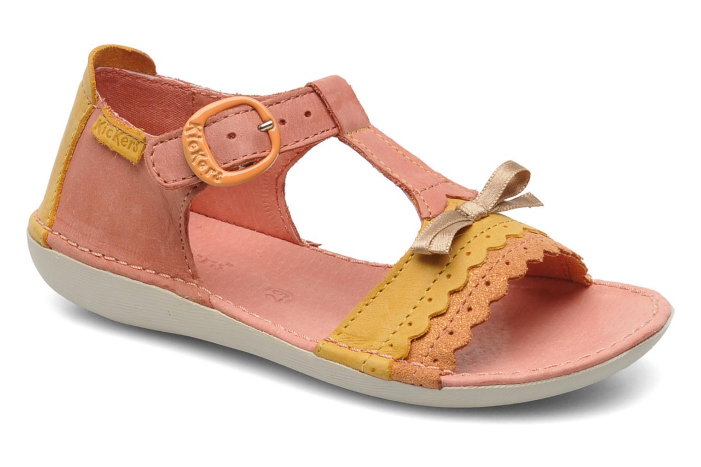 Sandales et nu-pieds Kickers Especial Rose vue détail/paire