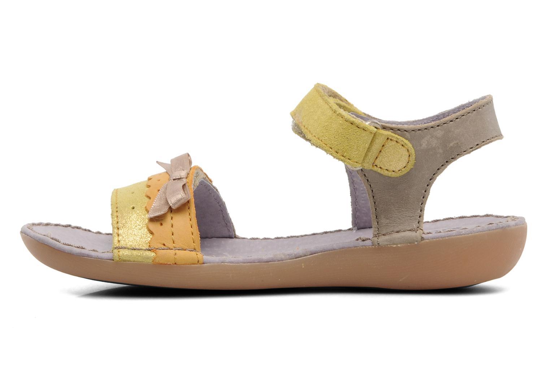 Sandalen Kickers Espiegle beige ansicht von vorne