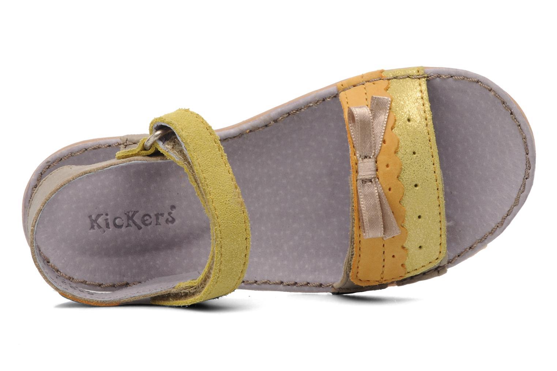 Sandalen Kickers Espiegle beige ansicht von links