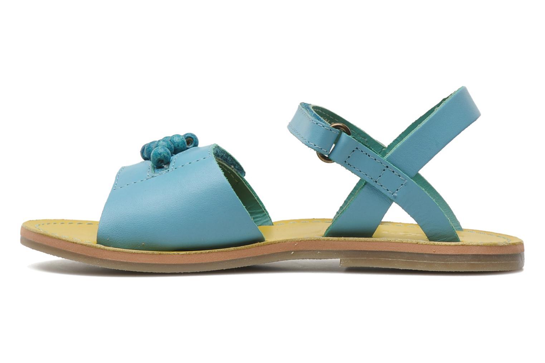 Sandalen Kickers Parma blau ansicht von vorne