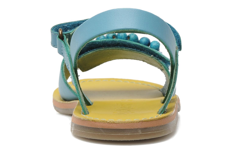Sandalen Kickers Parma blau ansicht von rechts