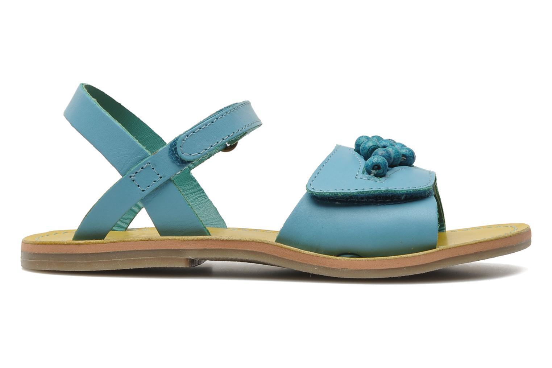 Sandalen Kickers Parma blau ansicht von hinten