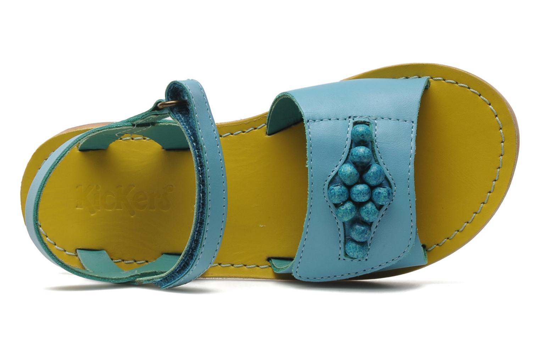 Sandales et nu-pieds Kickers Parma Bleu vue gauche