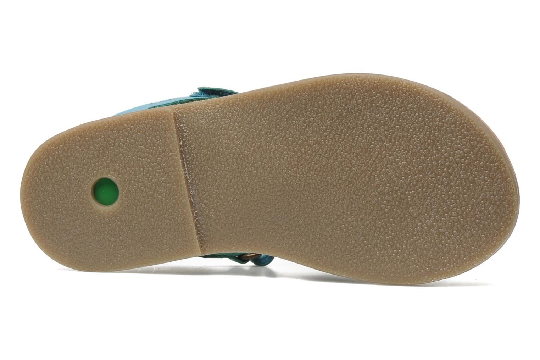 Sandales et nu-pieds Kickers Parma Bleu vue haut