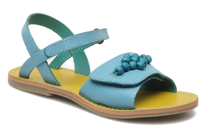 Sandales et nu-pieds Kickers Parma Bleu vue détail/paire
