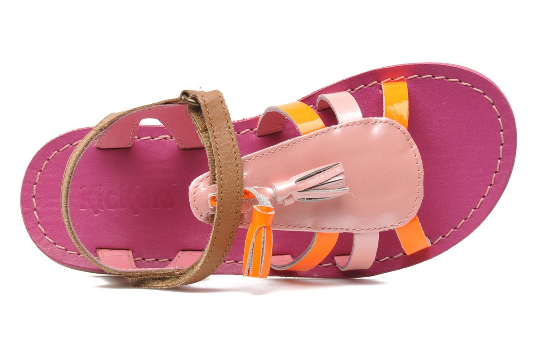 Sandales et nu-pieds Kickers Paraplume Marron vue gauche