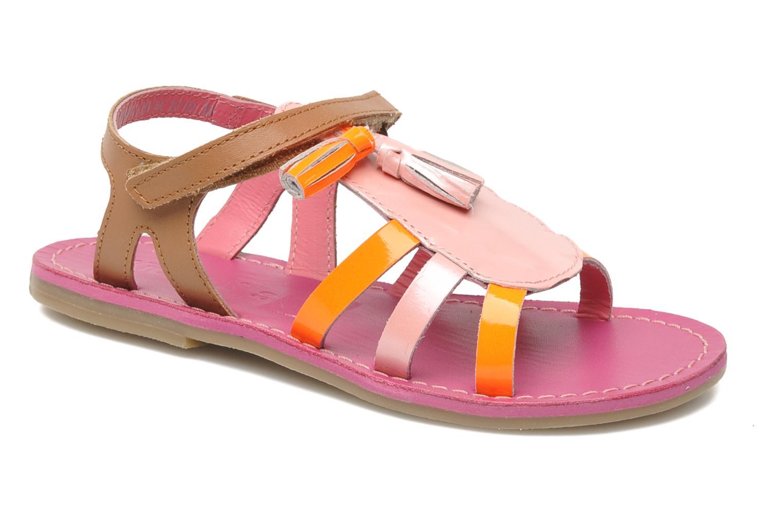 Sandales et nu-pieds Kickers Paraplume Marron vue détail/paire