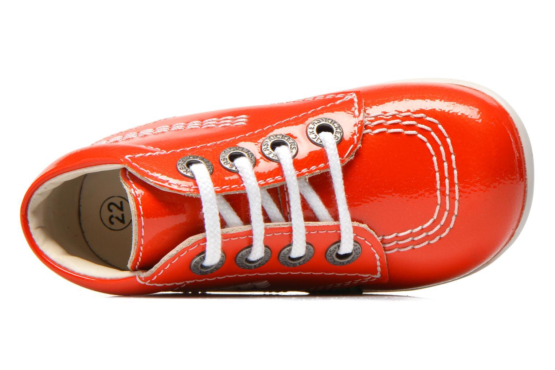 Bottines et boots Kickers Billista Orange vue gauche
