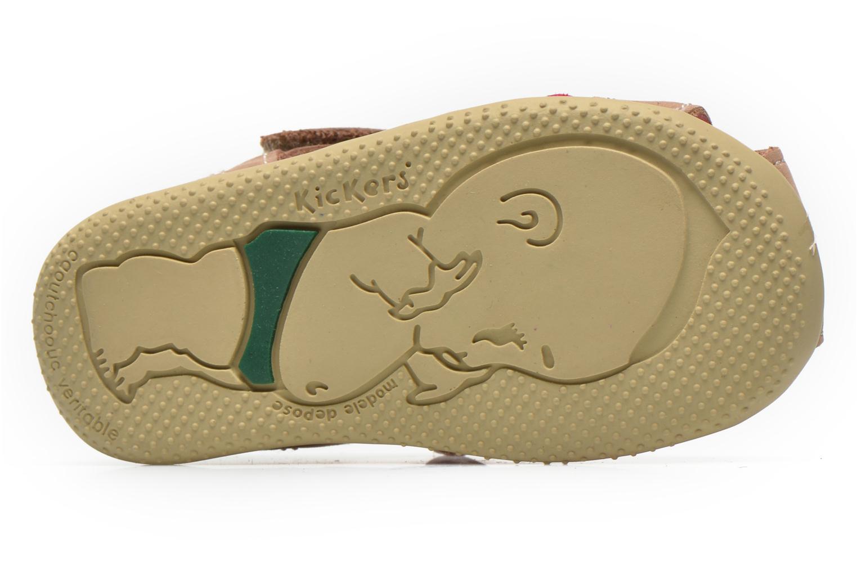 Sandales et nu-pieds Kickers Bigflo Beige vue haut