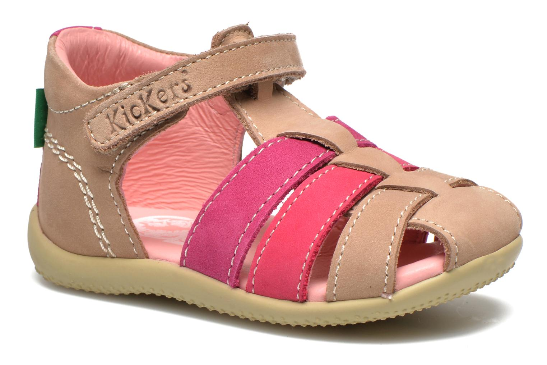 Sandales et nu-pieds Kickers Bigflo Beige vue détail/paire