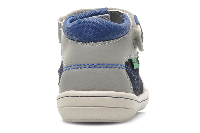 Sandales et nu-pieds Kickers Zelou Gris vue droite