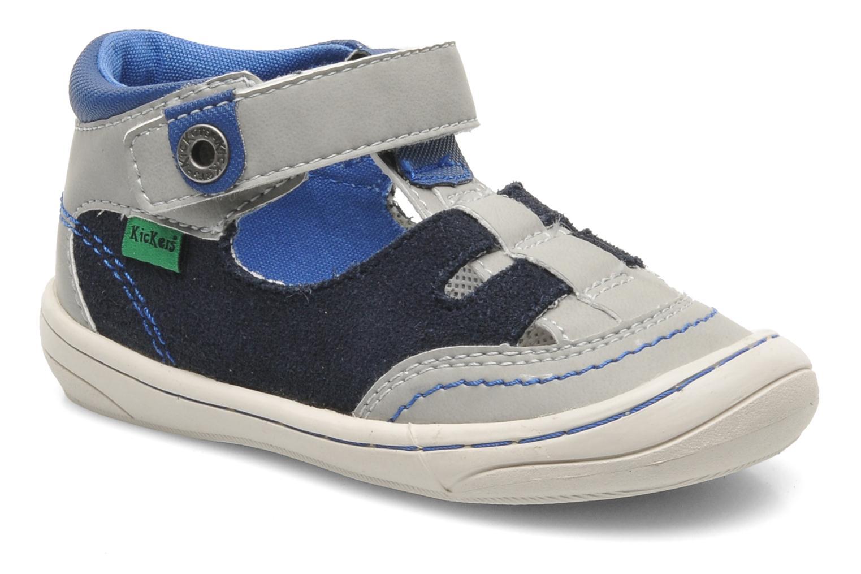 Sandales et nu-pieds Kickers Zelou Gris vue détail/paire