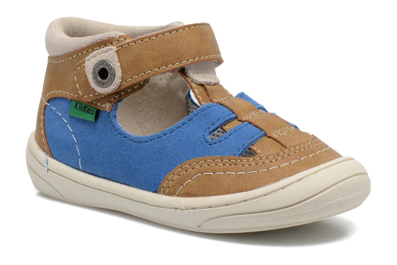 Sandales et nu-pieds Kickers Zelou Beige vue détail/paire