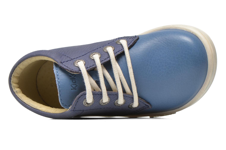 Chaussures à lacets Kickers Tradi T Bleu vue gauche