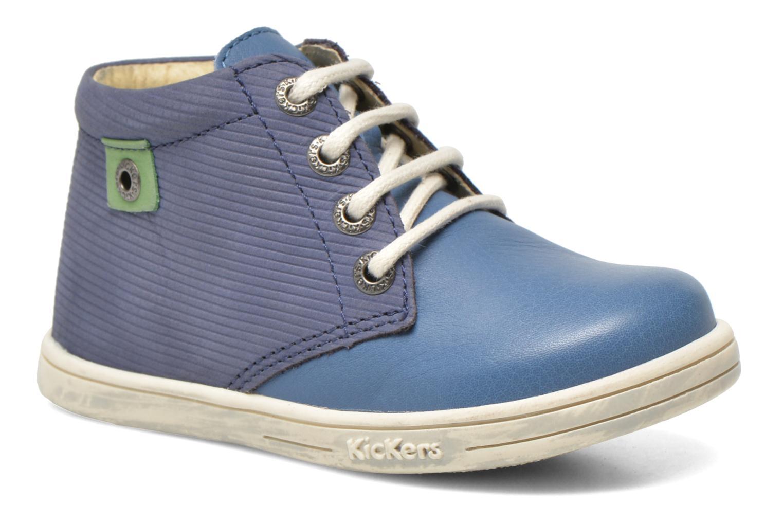 Chaussures à lacets Kickers Tradi T Bleu vue détail/paire