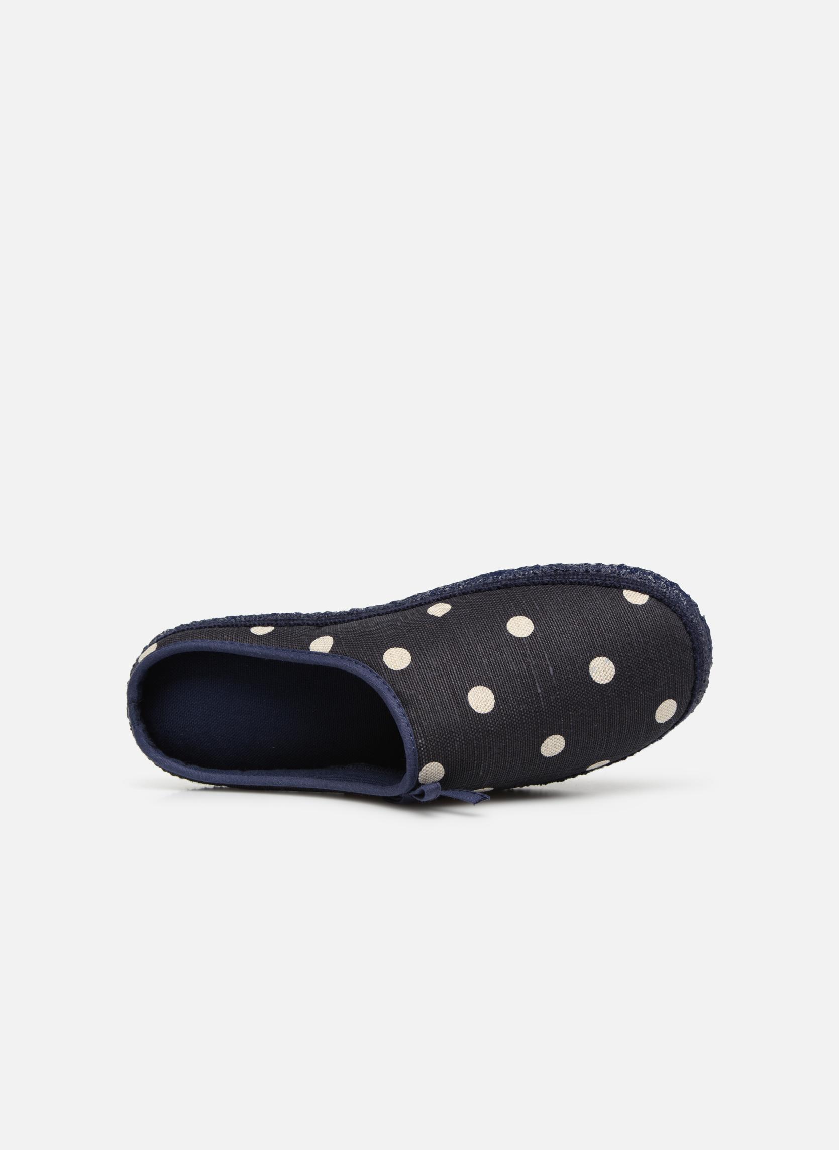Pantofole Giesswein Plein Azzurro immagine sinistra