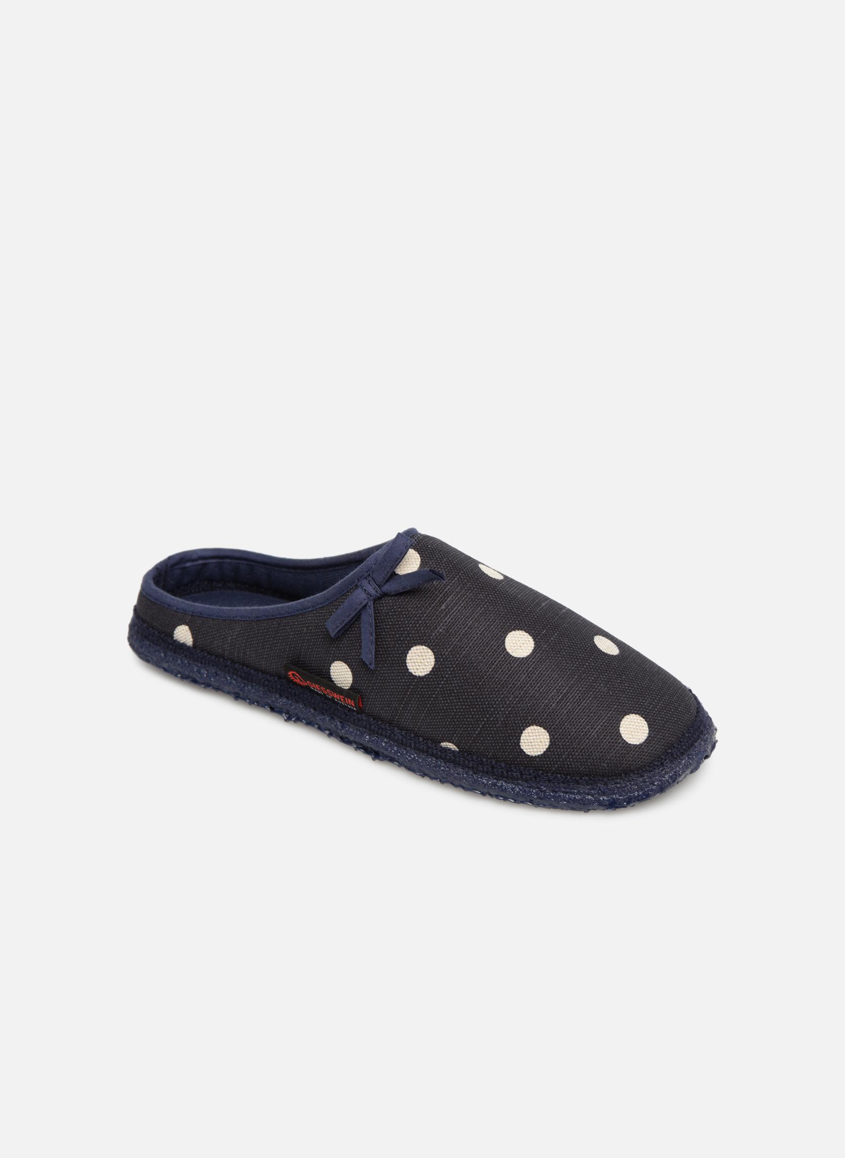 Hjemmesko Giesswein Plein Blå detaljeret billede af skoene