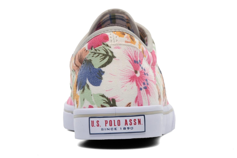 Baskets U.S Polo Assn. Dottie Flowers Multicolore vue droite