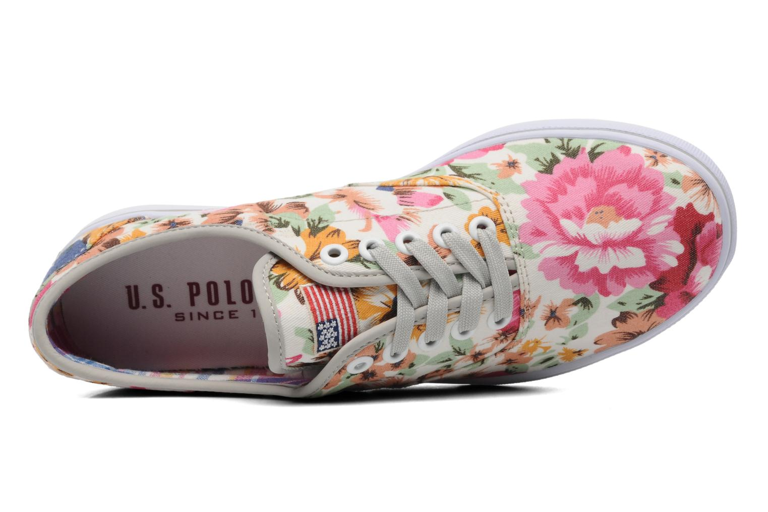 Baskets U.S Polo Assn. Dottie Flowers Multicolore vue gauche
