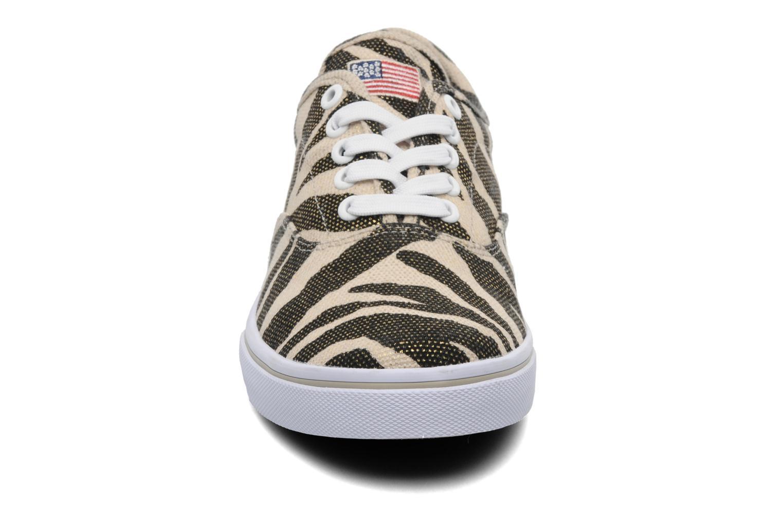 Baskets U.S Polo Assn. Dottie Zebra Beige vue portées chaussures