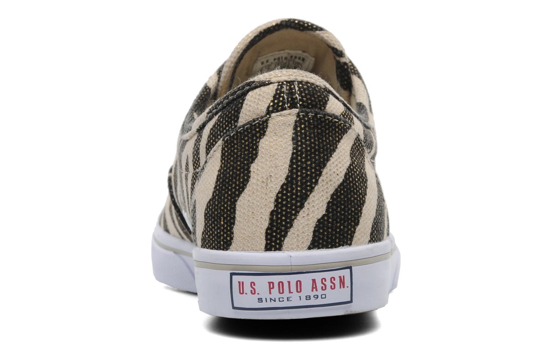 Baskets U.S Polo Assn. Dottie Zebra Beige vue droite