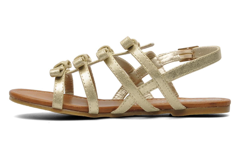 Sandales et nu-pieds Xti Odilia Or et bronze vue face