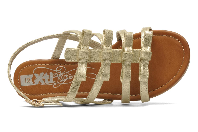 Sandales et nu-pieds Xti Odilia Or et bronze vue gauche