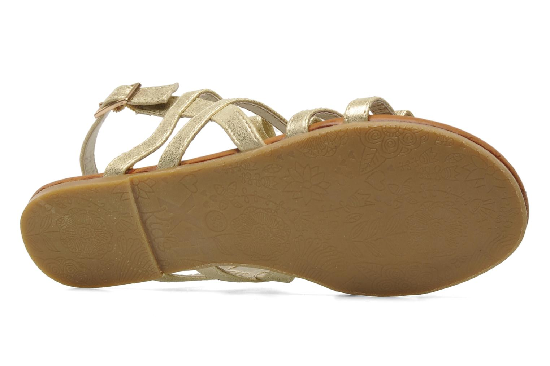 Sandales et nu-pieds Xti Odilia Or et bronze vue haut
