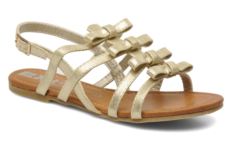 Sandales et nu-pieds Xti Odilia Or et bronze vue détail/paire