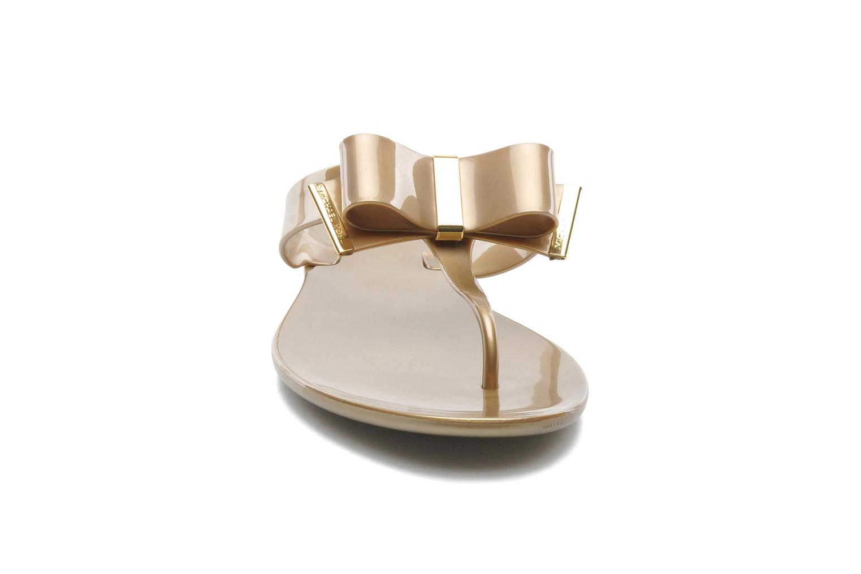 Flip flops Michael Michael Kors Kayden Jelly Bronze and Gold model view