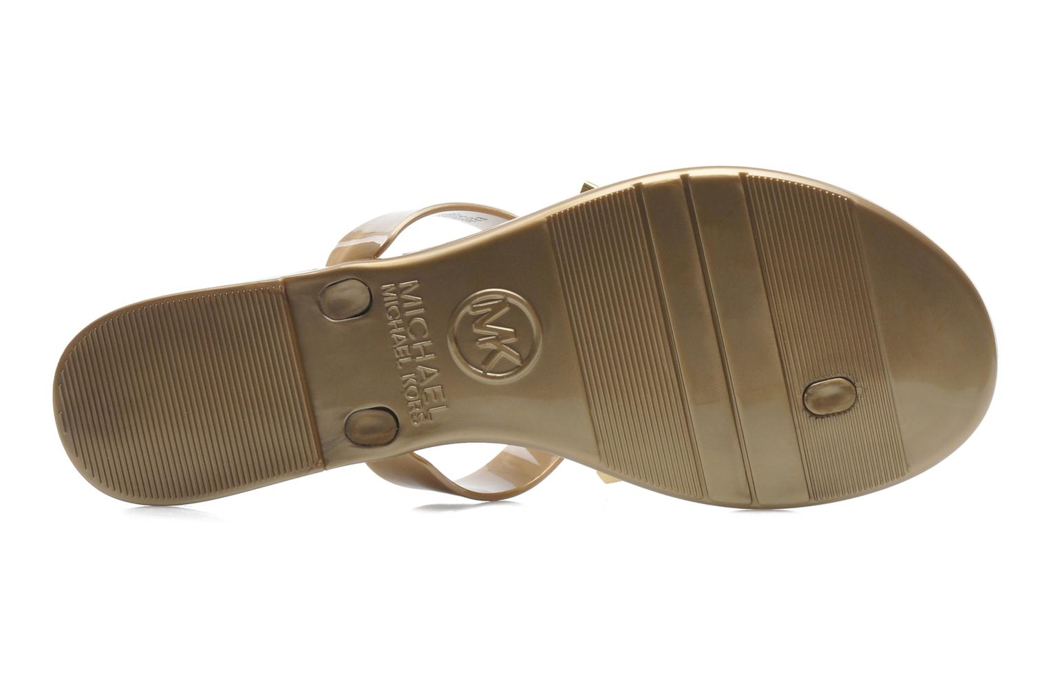 Flip flops Michael Michael Kors Kayden Jelly Bronze and Gold view from above